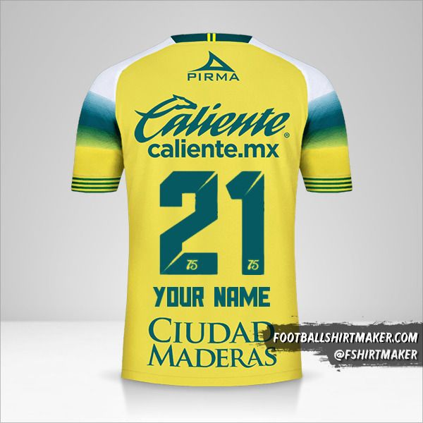 Club Leon 2019/20 II jersey number 21 your name