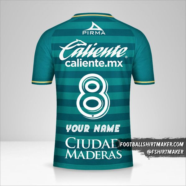 Club Leon 2020/21 jersey number 8 your name