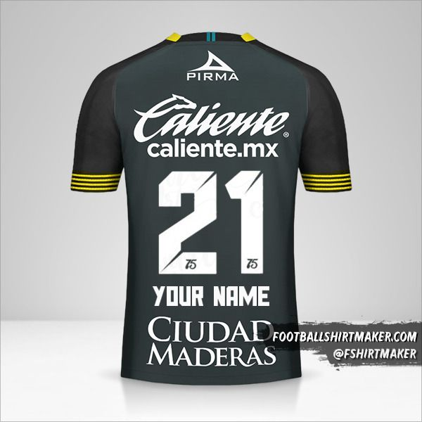 Club Leon 2020 III jersey number 21 your name