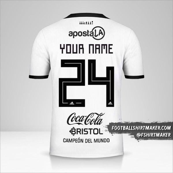 Club Olimpia Libertadores 2019 jersey number 24 your name