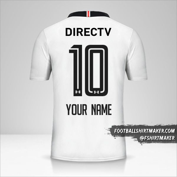 Colo Colo 2017 jersey number 10 your name