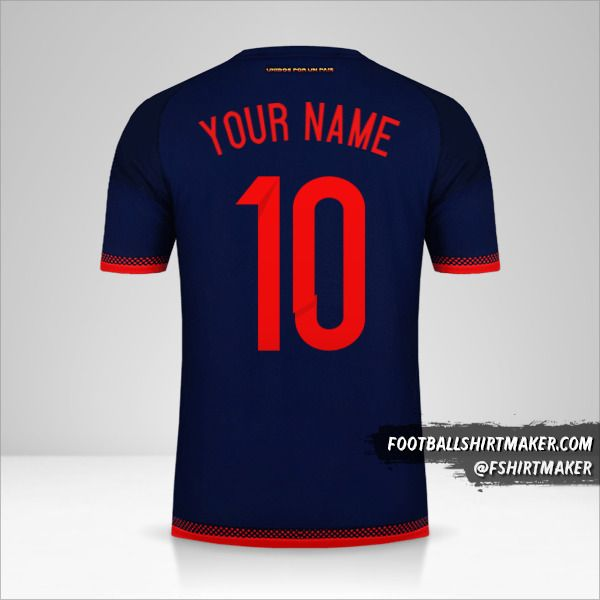 Colombia 2015 II jersey number 10 your name