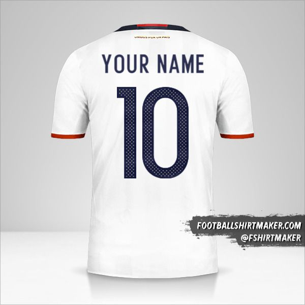 Colombia 2016 jersey number 10 your name