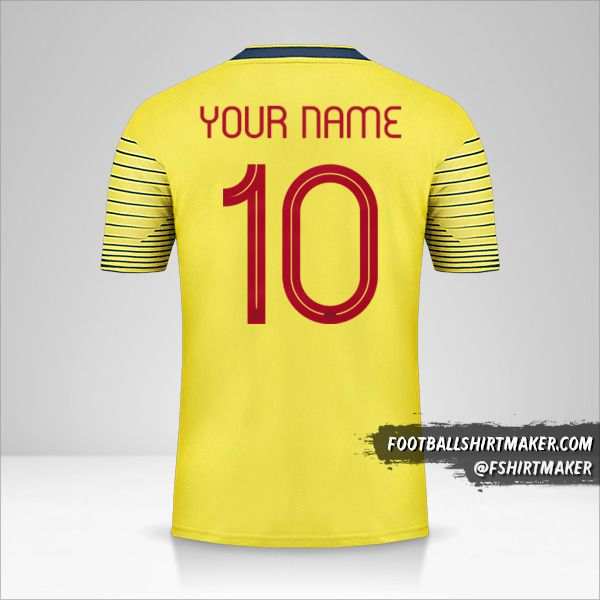 Colombia 2019/20 jersey number 10 your name