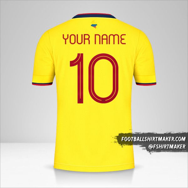 Colombia 2021 jersey number 10 your name