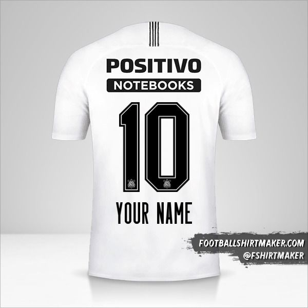 Corinthians 2018/19 jersey number 10 your name