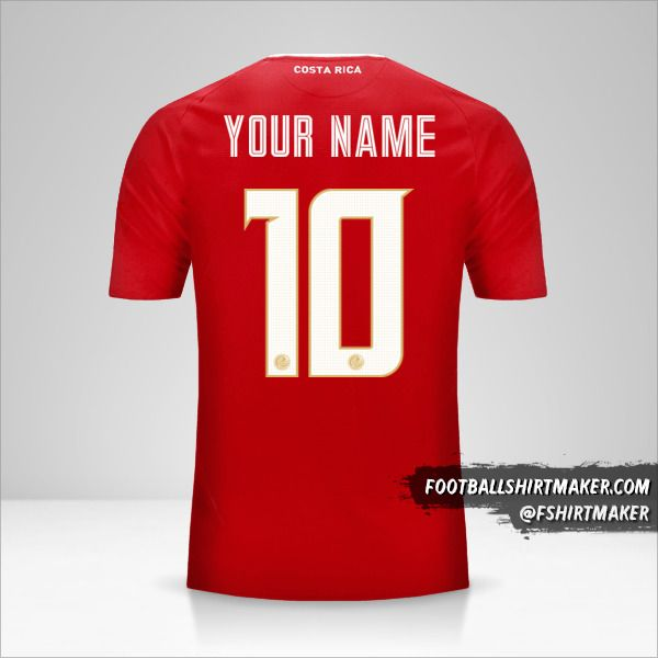 Costa Rica 2018 jersey number 10 your name