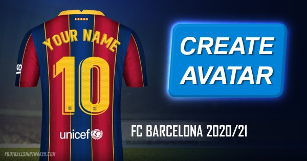 Make Fc Barcelona 2020 21 Custom Jersey With Your Name