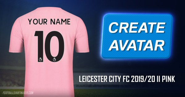 Make Leicester City FC 2019/20 II Pink custom jersey with ...