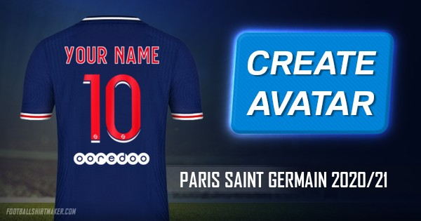 Make Paris Saint Germain 2020 21 Custom Jersey With Your Name