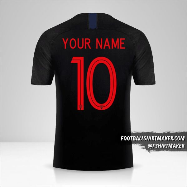 Croatia 2018 II jersey number 10 your name