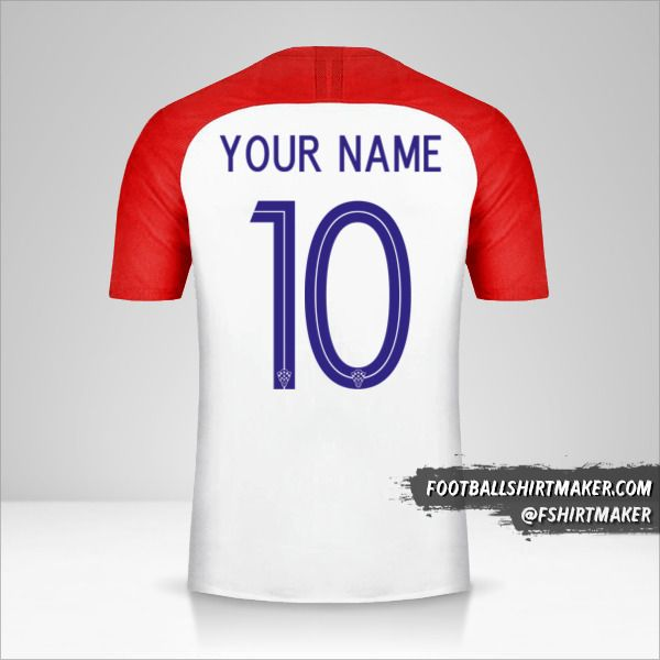 Croatia 2018 jersey number 10 your name