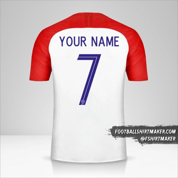 Croatia jersey 2018 number 7 your name