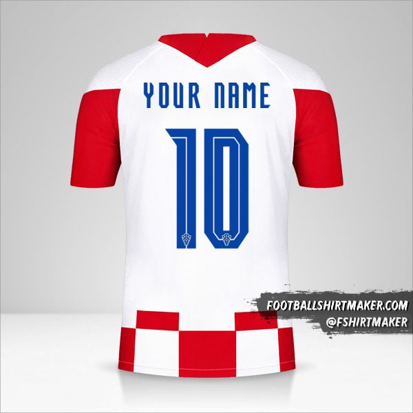 Croatia 2020/2021 jersey number 10 your name
