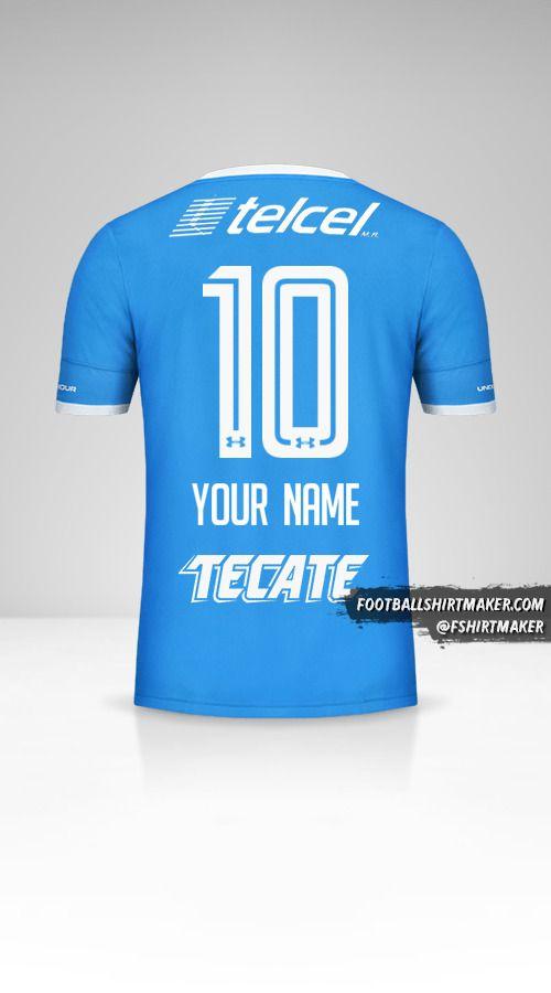Cruz Azul 2016/17 jersey number 10 your name