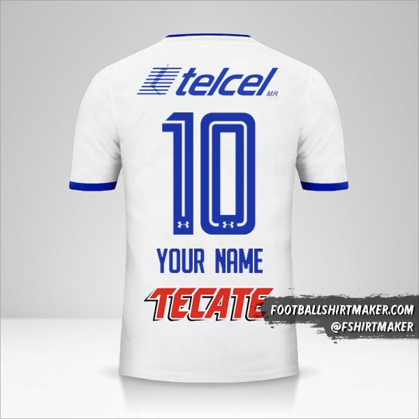 Cruz Azul 2017/18 II jersey number 10 your name