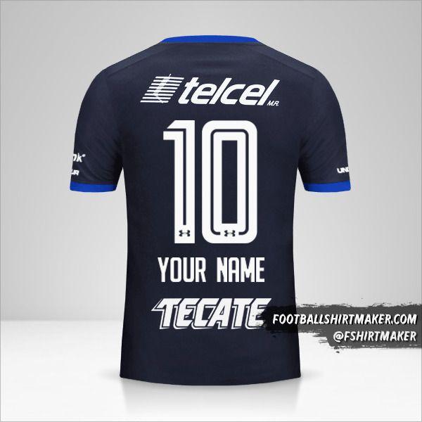 Cruz Azul 2017/18 III jersey number 10 your name
