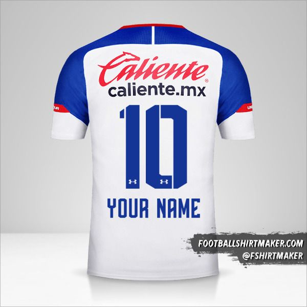 Cruz Azul 2018/19 II jersey number 10 your name