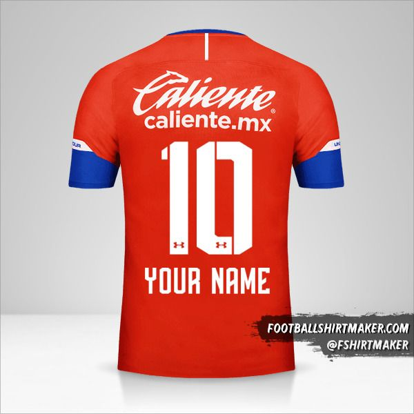 Cruz Azul 2018/19 III jersey number 10 your name
