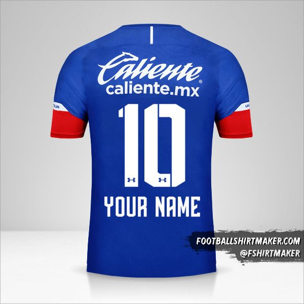 Cruz Azul 2018/19 jersey number 10 your name