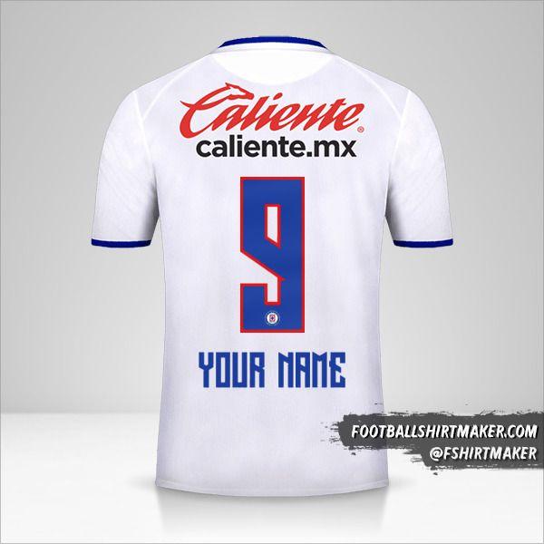 Cruz Azul 2019/20 II jersey number 9 your name