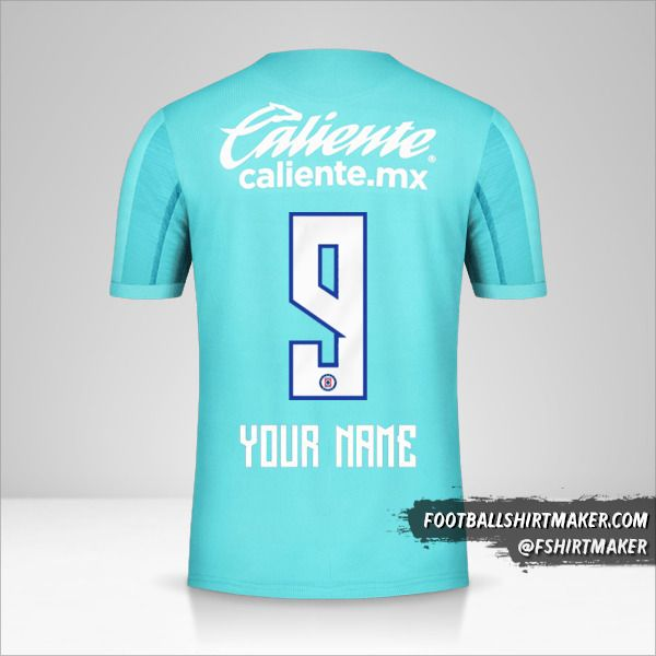 Cruz Azul 2019/20 III jersey number 9 your name