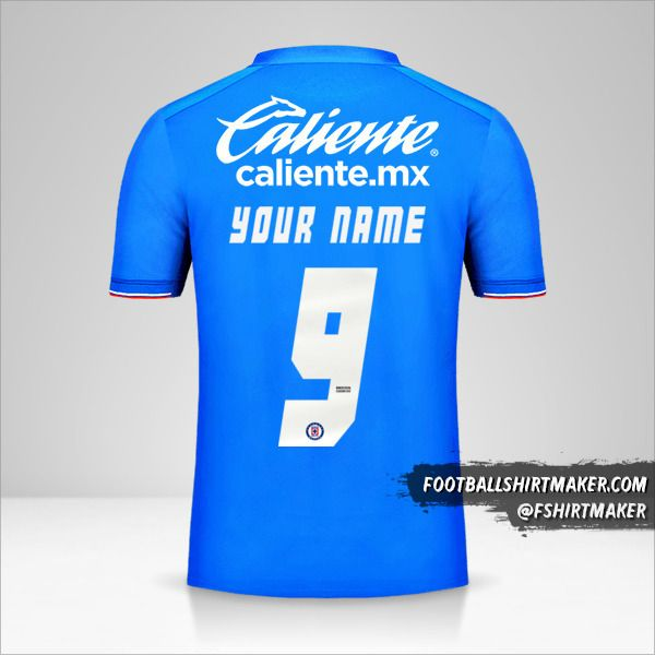 Cruz Azul 2019 jersey number 9 your name