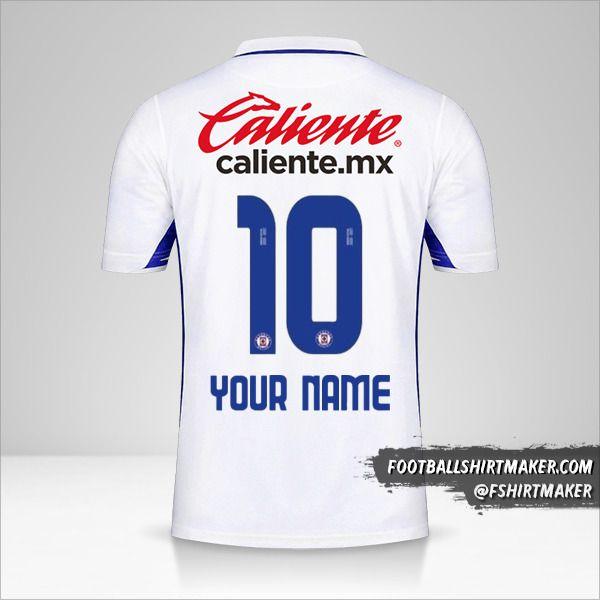 Cruz Azul 2020/21 II jersey number 10 your name