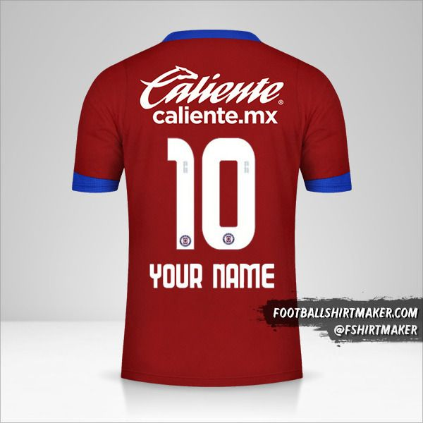 Cruz Azul 2020/21 III jersey number 10 your name
