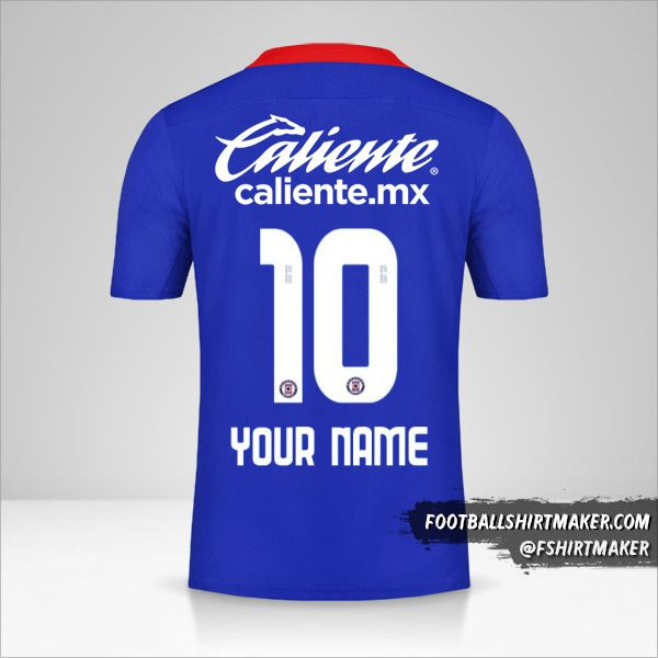 Cruz Azul 2020/21 jersey number 10 your name