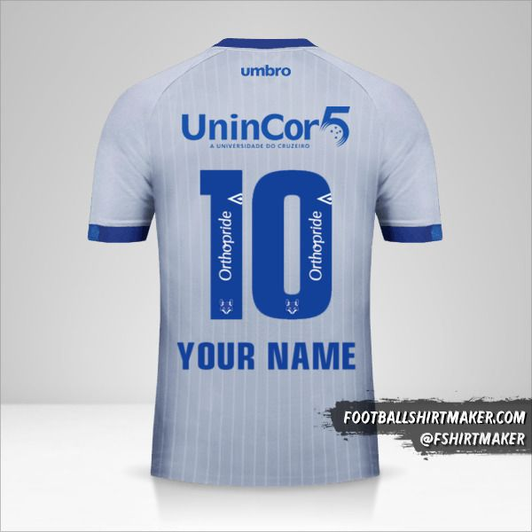 Cruzeiro 2018/19 III jersey number 10 your name