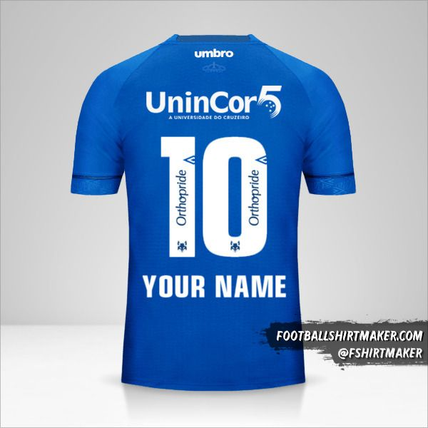 Cruzeiro 2018/19 jersey number 10 your name