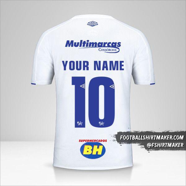Cruzeiro 2019/20 II jersey number 10 your name