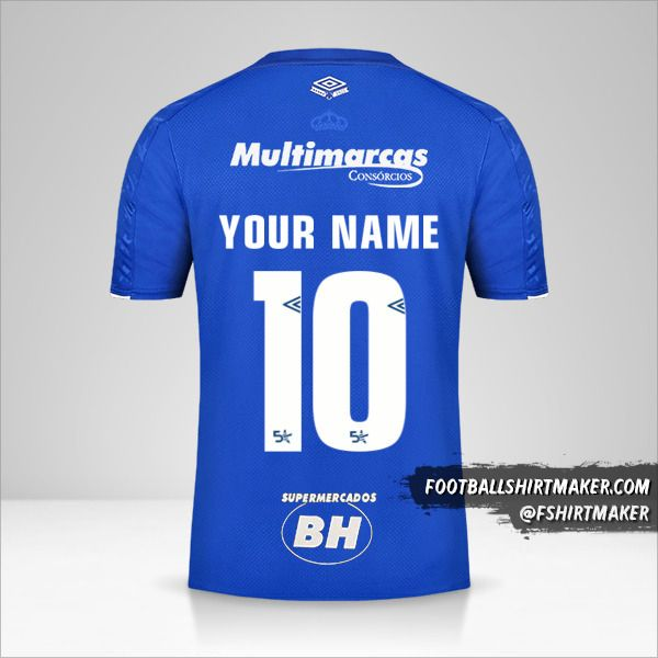 Cruzeiro 2019/20 jersey number 10 your name