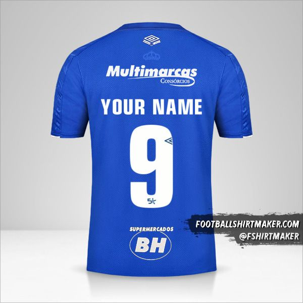 Cruzeiro jersey 2019/20 number 9 your name