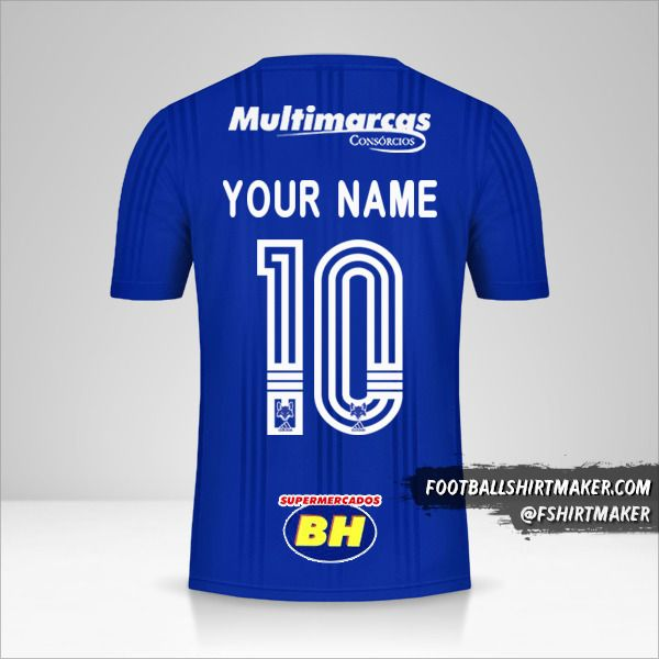 Cruzeiro 2020 jersey number 10 your name
