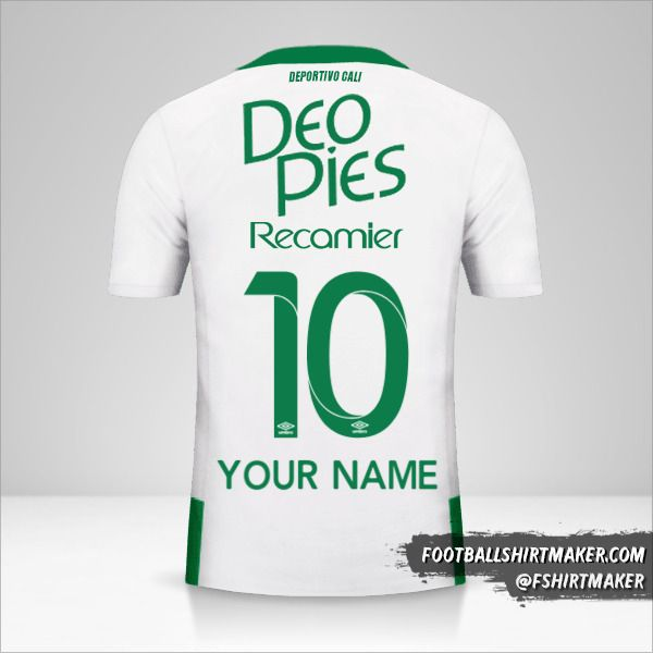 Deportivo Cali 2016 II jersey number 10 your name