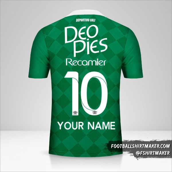 Deportivo Cali 2016 jersey number 10 your name