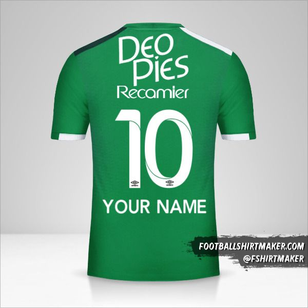 Deportivo Cali 2017 jersey number 10 your name