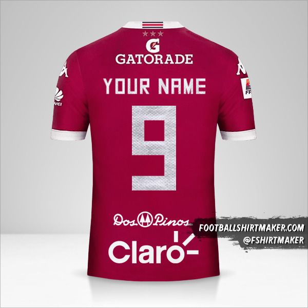 Deportivo Saprissa jersey 2016 number 9 your name