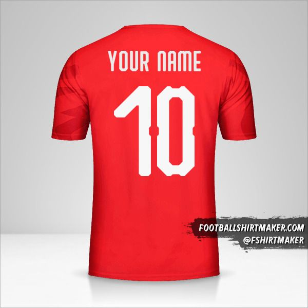 Egypt 2019 jersey number 10 your name