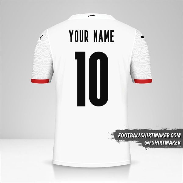 Egypt 2020/2021 II jersey number 10 your name