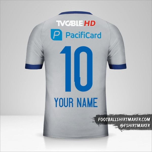 Emelec 2017 II jersey number 10 your name