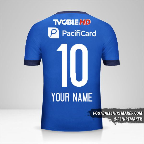 Emelec 2017 jersey number 10 your name
