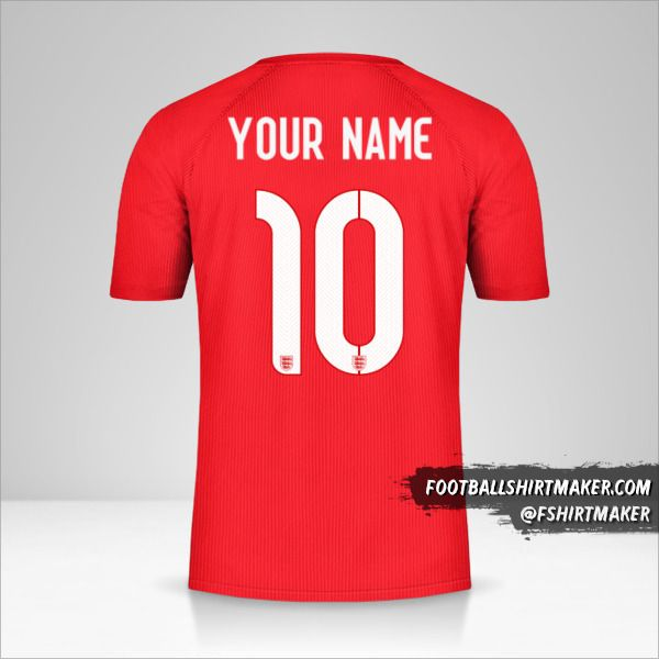 England 2014/15 II jersey number 10 your name