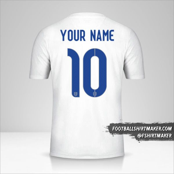 England 2014/15 jersey number 10 your name