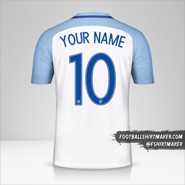 England 2016/17 jersey number 10 your name