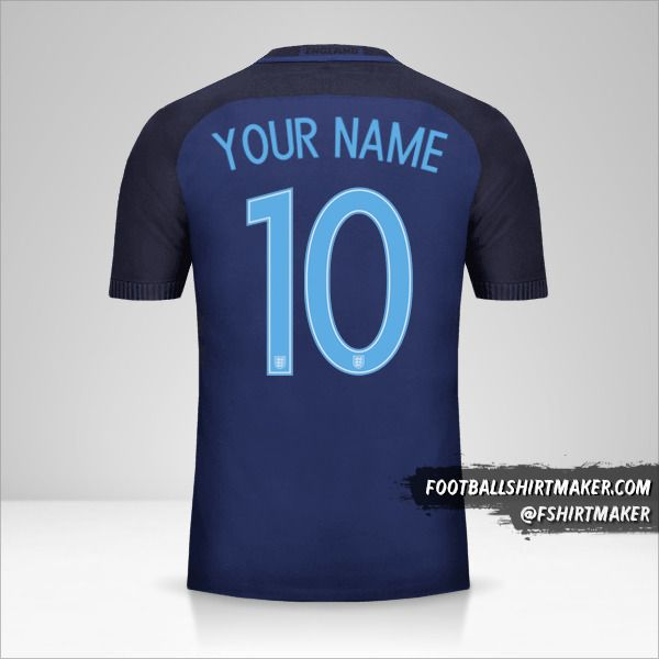 England 2017 II jersey number 10 your name