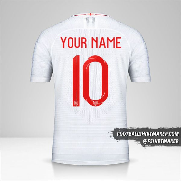 England 2018 jersey number 10 your name