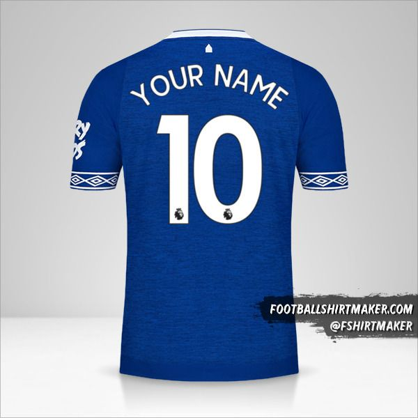 Everton FC 2018/19 jersey number 10 your name